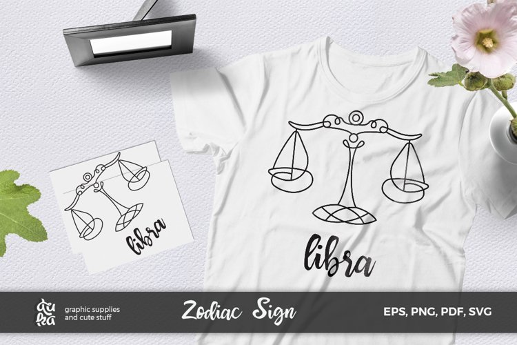 Zodiac Sign SVG Cut Files- Libra example image 1
