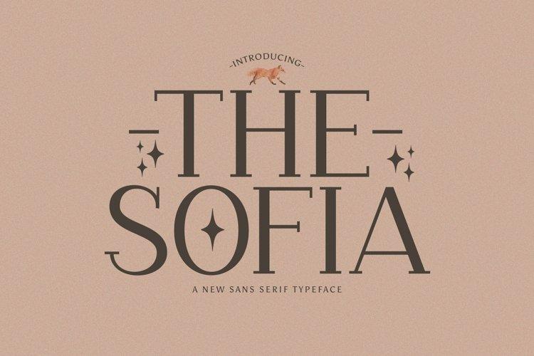 Web Font The Sofia example image 1