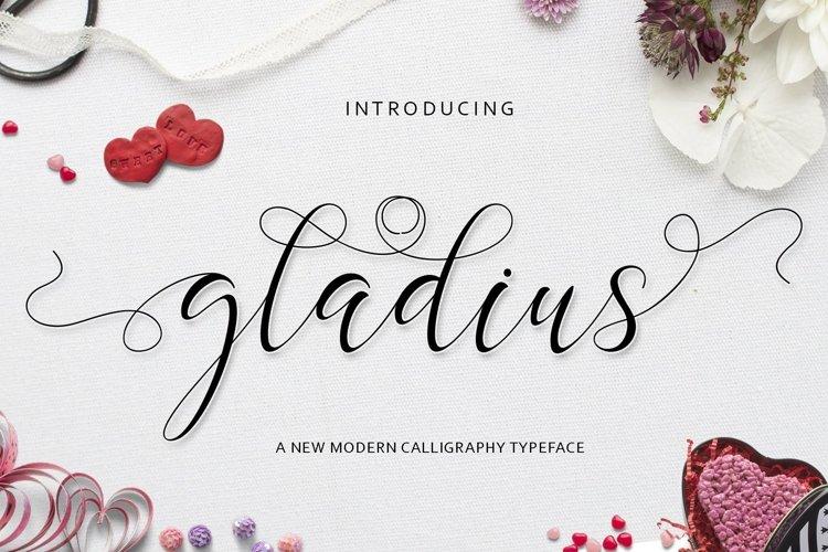 Web Font Gladius Script example image 1