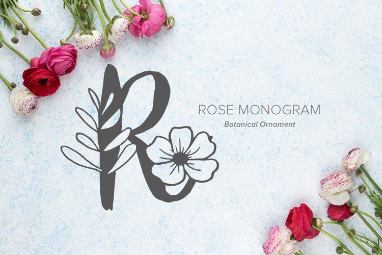 Rose Monogram Font example image 1