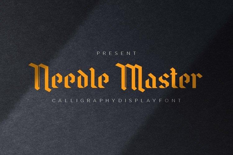 Web Font Needle Master Display Font example image 1