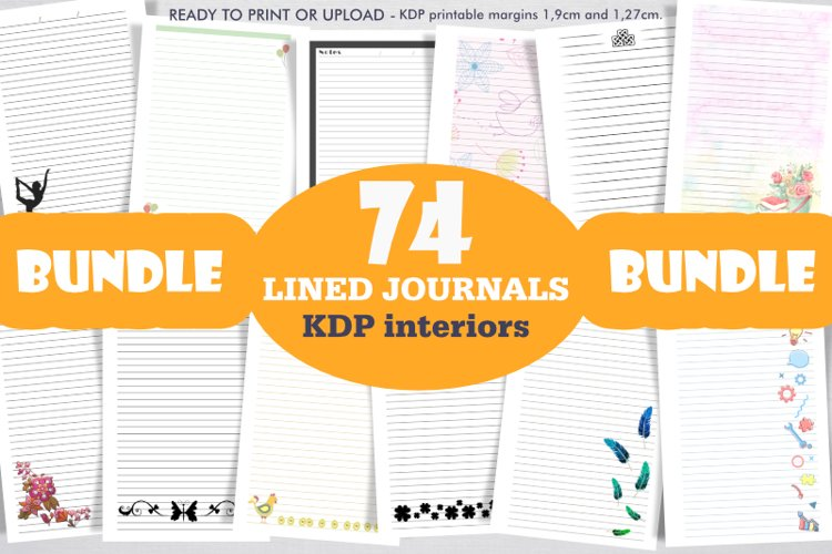 Bundle 74 KDP Interiors lined journals.