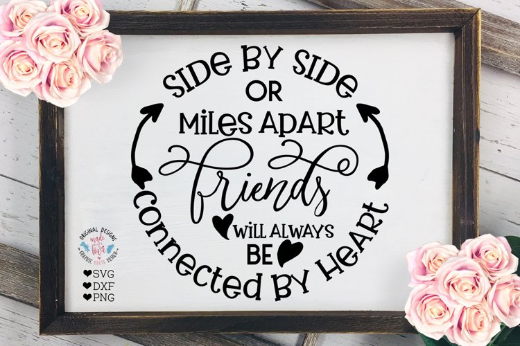 Friends will be Connected By Heart - Friendship Quote example image 1