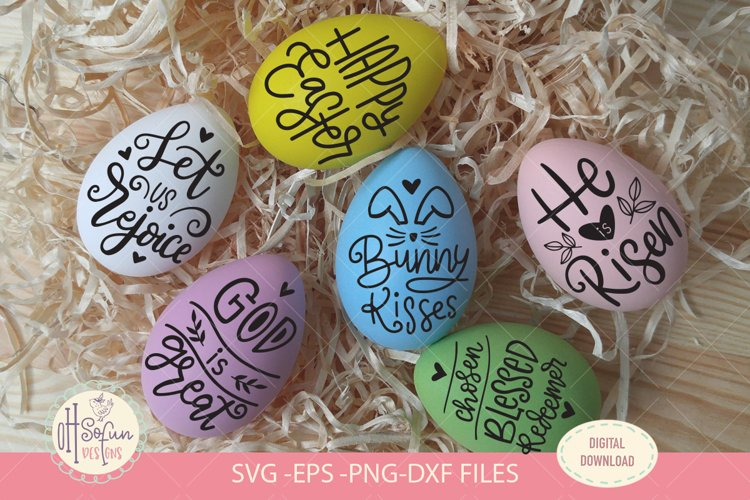 Easter Eggs quote bundles, SVG files, hand lettering svg