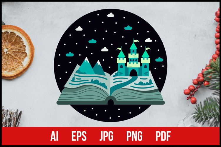 Fairy Tale Winter Castle - Sublimation Printing example image 1