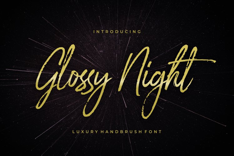 Glossy Night - Luxury Handbrush Font example image 1