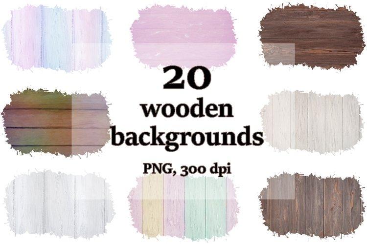 20 Sublimation wood backgrounds, PNG rustic wooden bundle