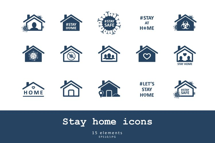 Stay home icons example image 1