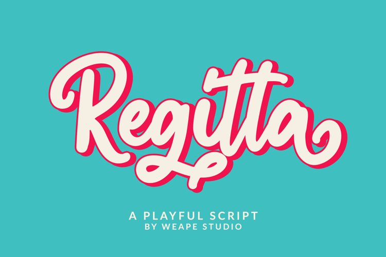 Regitta - Playful Script example image 1