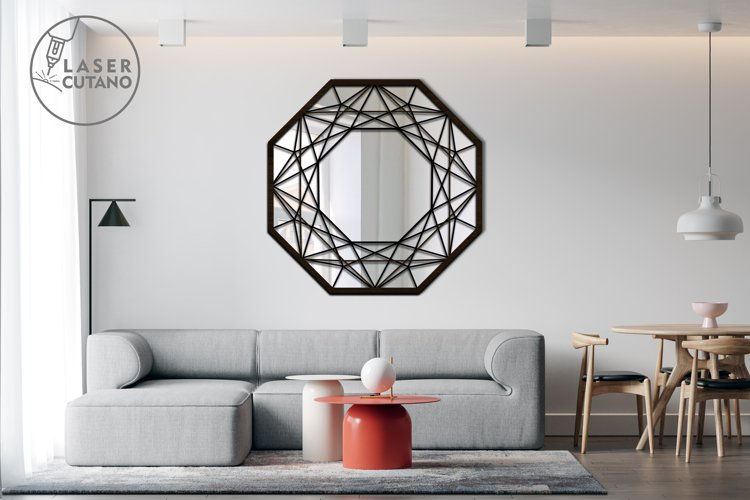 Multilayer Cut File Round Wall Mirrow Frame example 4