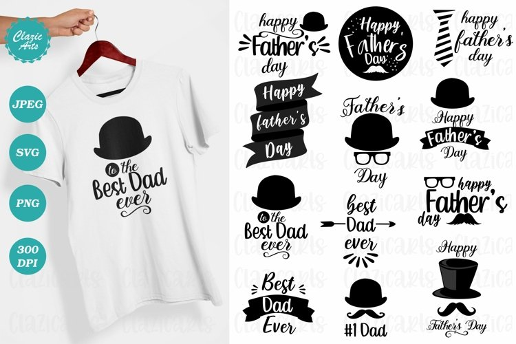 Father's Day SVG, Father's Day T-shirts, Sublimation Designs example image 1