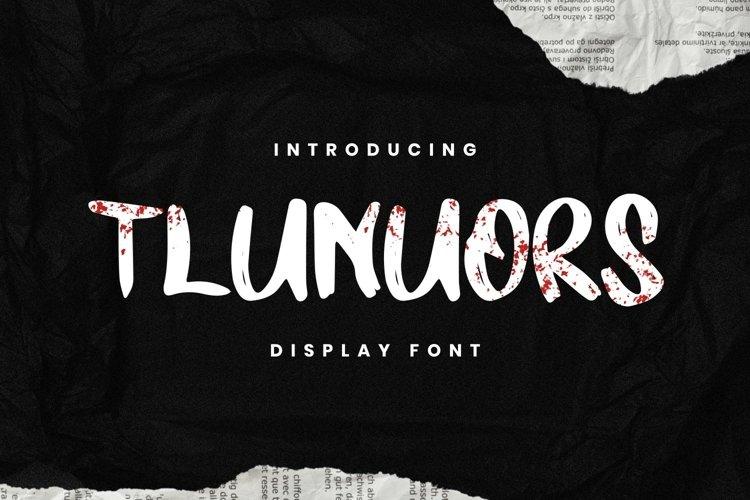 TLUNUORS Font example image 1