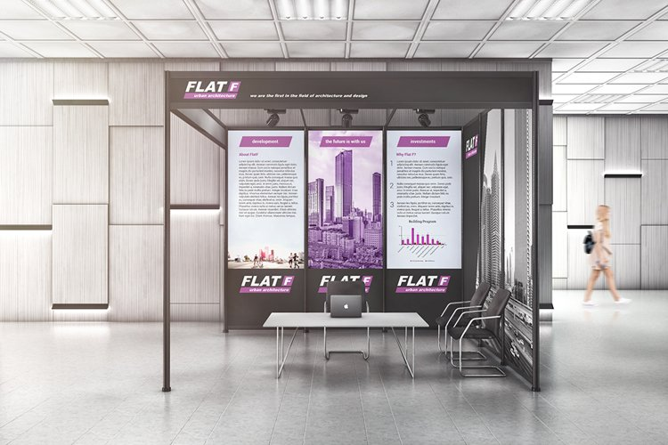 Exhibition Trade Show Shell Scheme Mockup example image 1