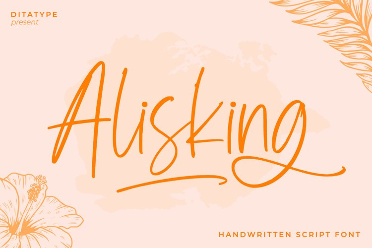 Alisking-Handwritten Font example image 1