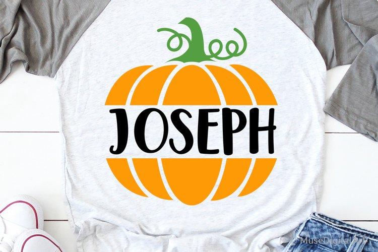 Pumpkin Split Monogram Svg, Baby Boy Cutest Pumpkin Svg