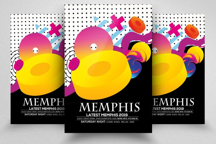 Abstract Memphis Flyer Template example image 1