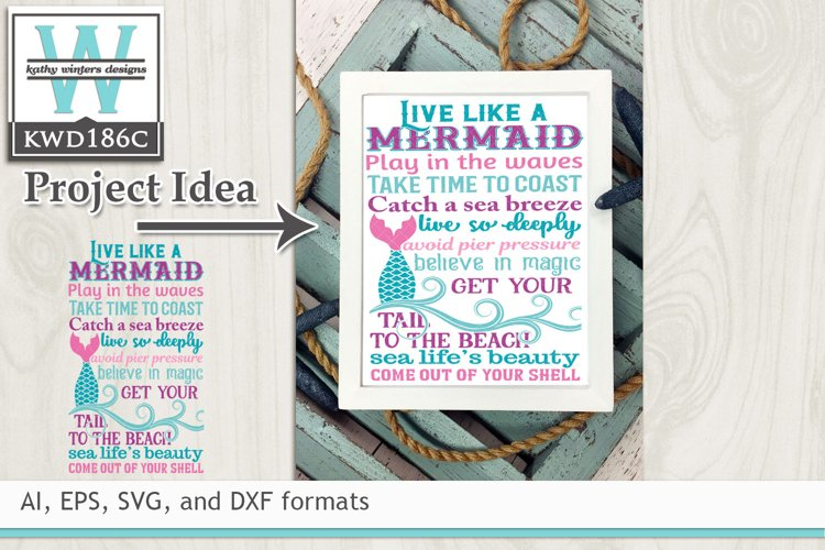 Mermaid SVG - Live Like A Mermaid