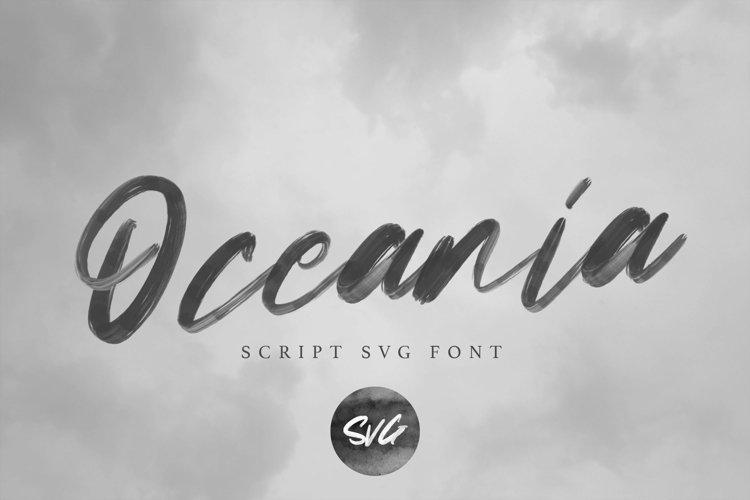 Oceania | Script Svg Font example image 1