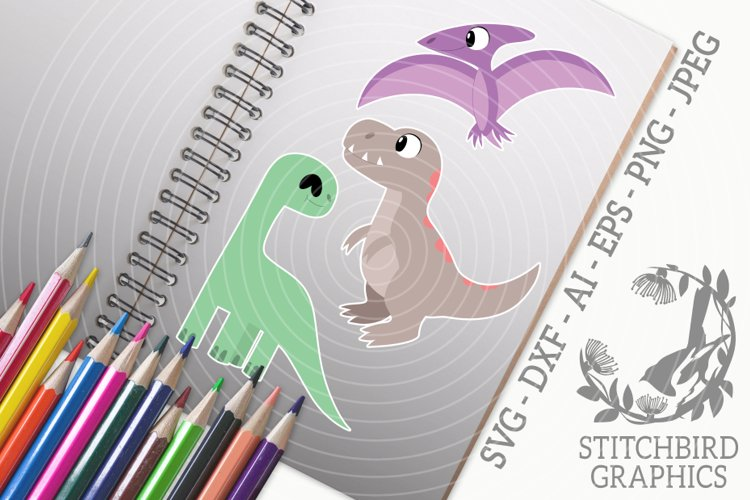 Cute Dinosaurs Bundle SVG, Silhouette Studio, Cricut, Eps