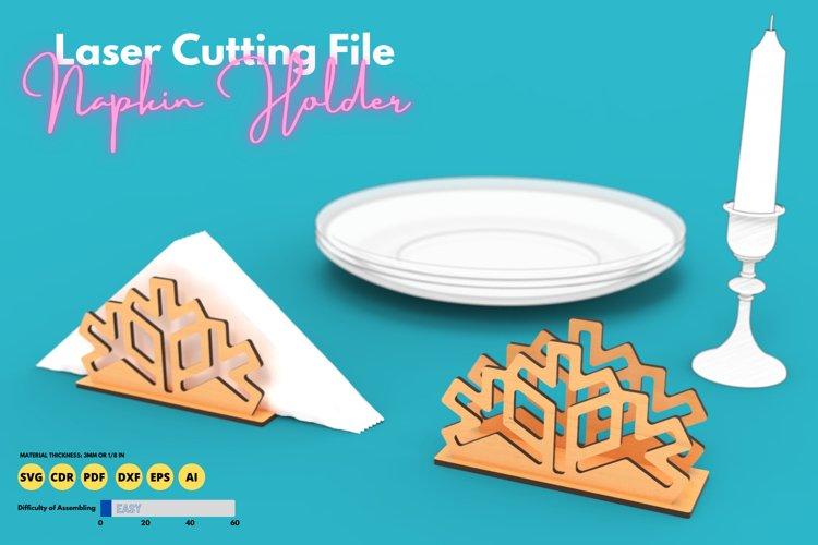 Napkin Holder - laser cutting file example image 1