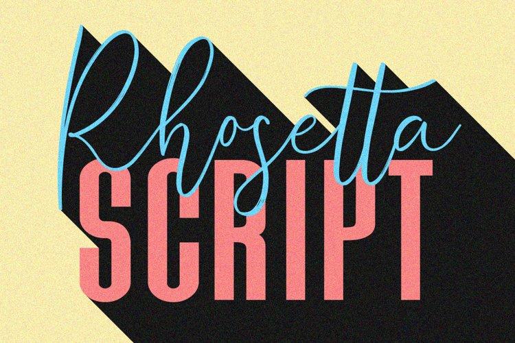 Rhosetta Script example image 1