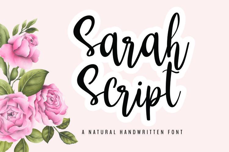 Sarah Script example image 1