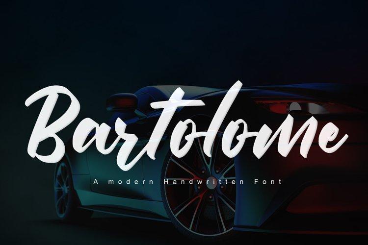 Bartolome - Bold Font example image 1