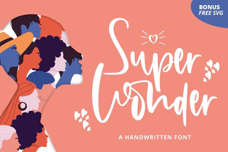 Super Wonder & Free SVG example image 1
