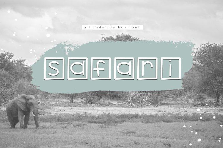 Safari - A Handwritten Box Font example image 1