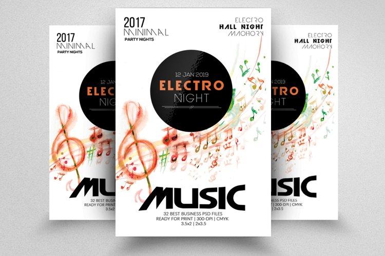 Electro Music Night Flyer example image 1