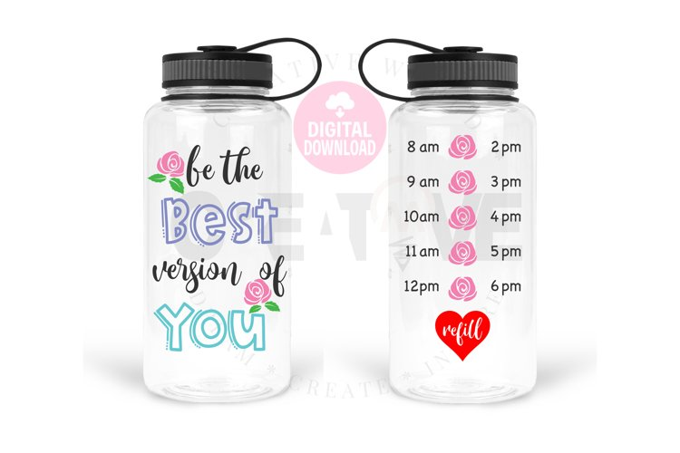 Be the best version of you svg   Water Tracker svg example image 1