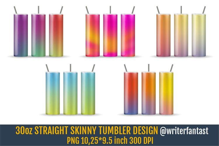 30oz STRAIGHT Skinny Tumbler Sublimation, Rainbow template example image 1