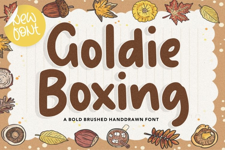 Goldie Boxing Bold Brushed Handdrawn Font example image 1