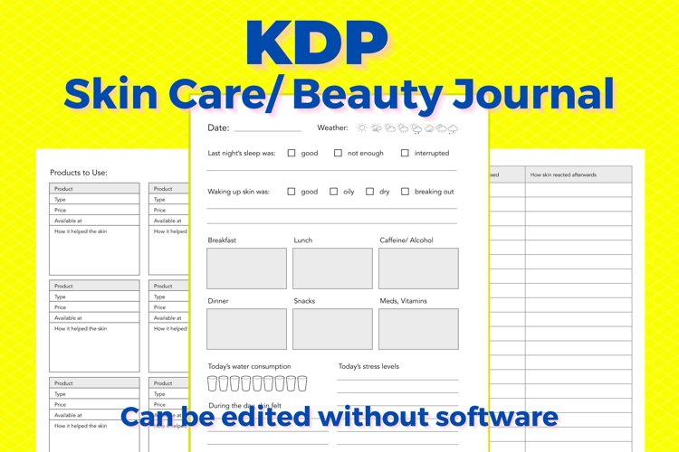 KDP Skincare, Beauty Journal example image 1