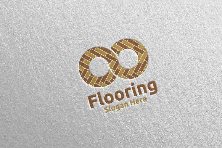 Flooring Parquet Wooden Logo 22 example image 1