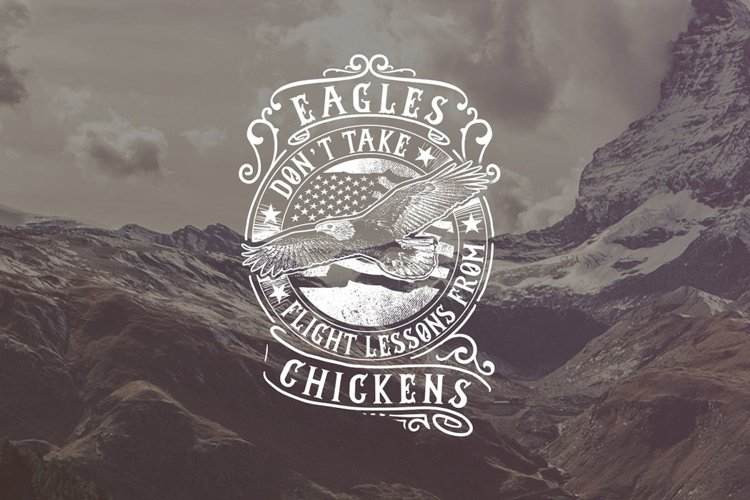 Eagle Don t Take Flight Lessons From Chickens example image 1