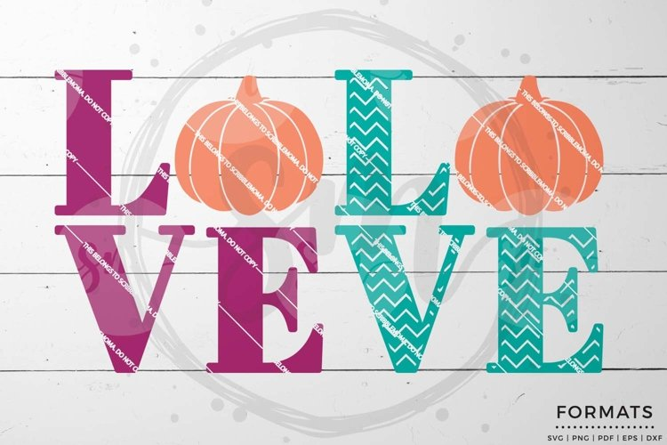Pumpkin Love SVG example image 1