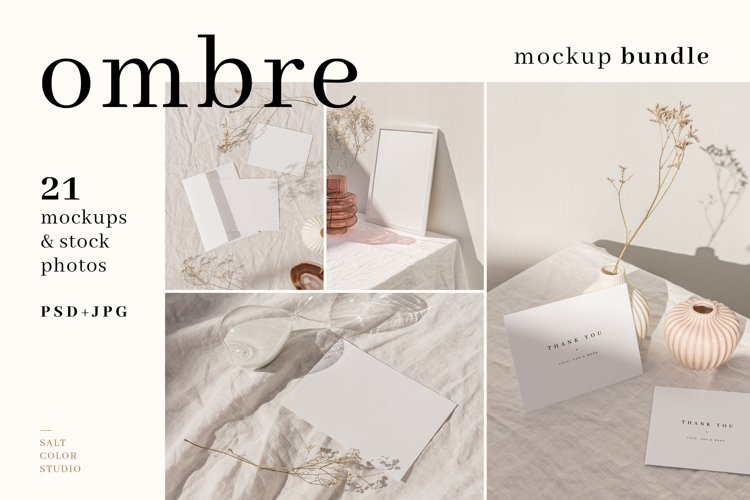 Ombre - Frame and Stationery Mockups example image 1