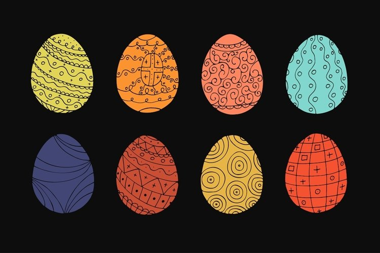 Color collection of Easter eggs. - Free Design of The Week Design1