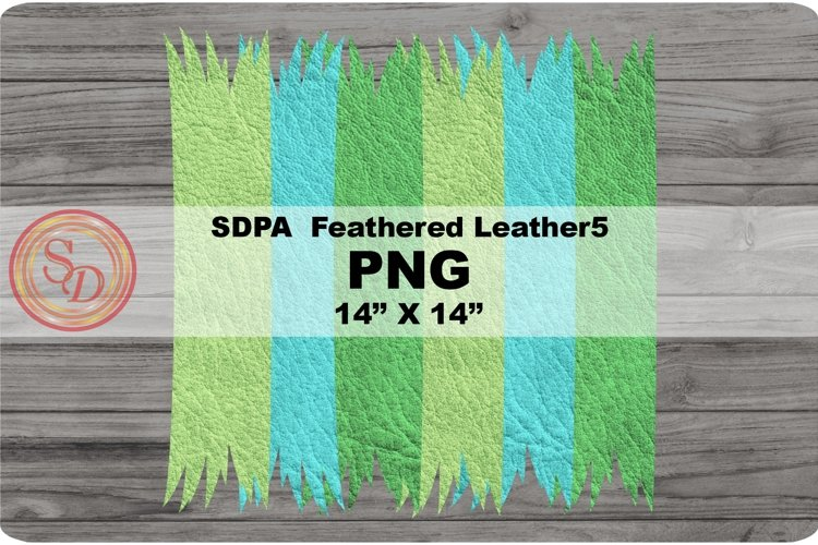 Sublimation Designs - background Feathered Leather5 example image 1