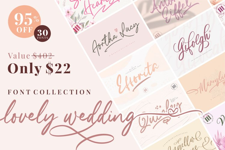 Lovely Wedding - Font Collection // Bundle