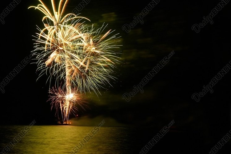 Colorful holiday fireworks example image 1