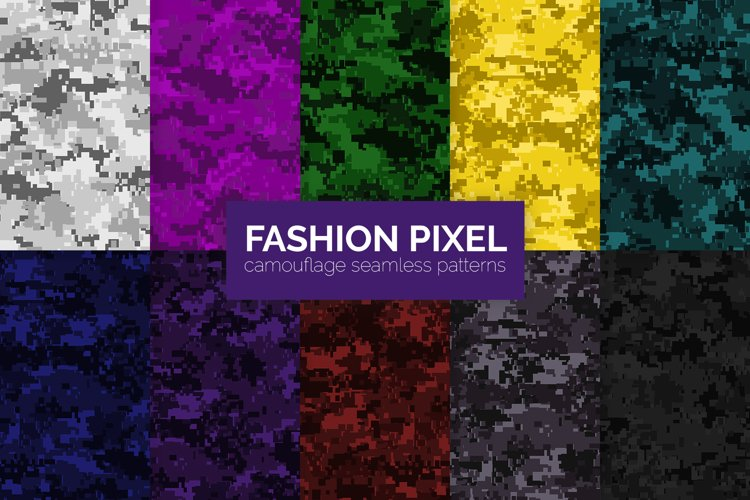 Fashion Pixel Camouflage Patterns example image 1