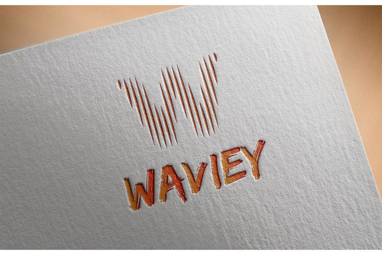 Letter W Wave Logo example image 1