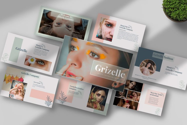 Grizelle - Creative Google Slides Template example image 1