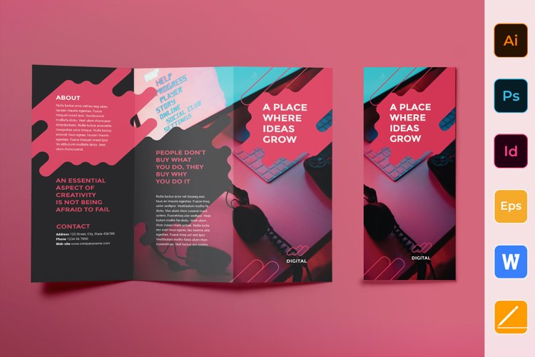 Digital Advertising Agency Brochure Trifold example image 1
