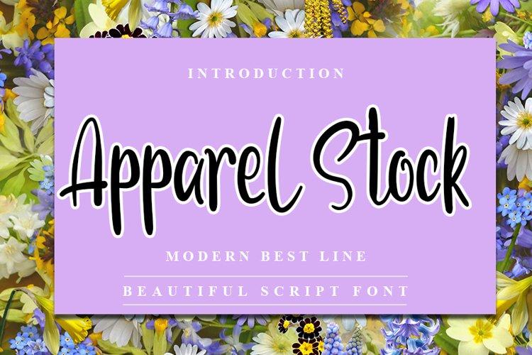 Apparel Stock - Modern Handwritten Font example image 1
