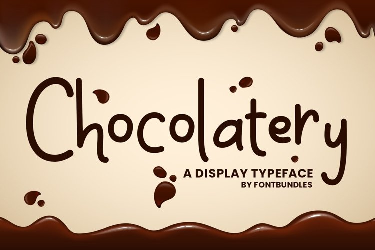 Web Font Chocolatery example image 1