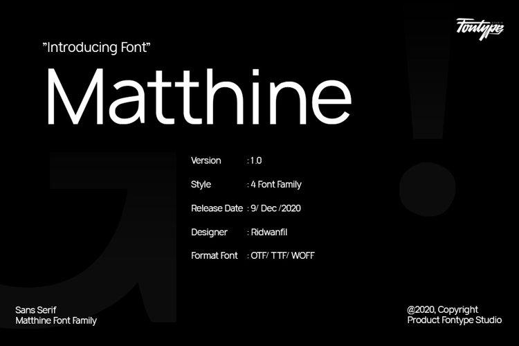 Matthine - Sans Serif Modern Style example image 1