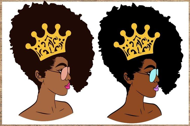 Bundle svg Black woman Black Woman with glasses svg example image 1